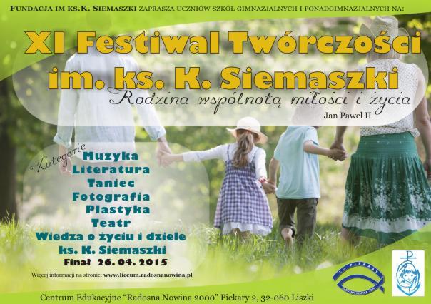 XI Festiwal im. ks. Kazimierza Siemaszki