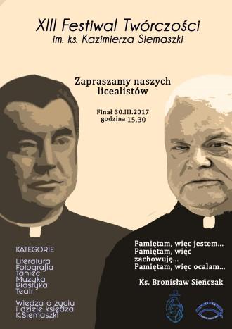 XIII FESTIWAL TWÓRCZOŚCI im. Ks. Kazimierza Siemaszki